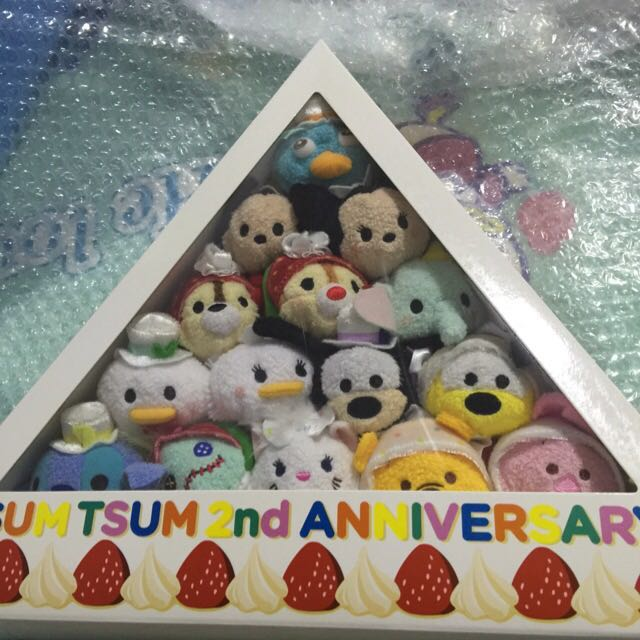 2nd Anniversary Cake Edition Tsum Tsum Toys Games Stuffed Toys