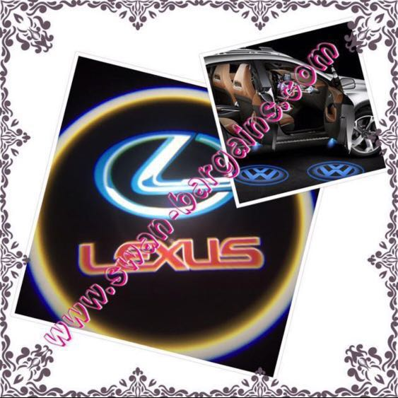 2pcs Lexus Logo Magnetic Wireless Car Door Ghost Shadow Courtesy