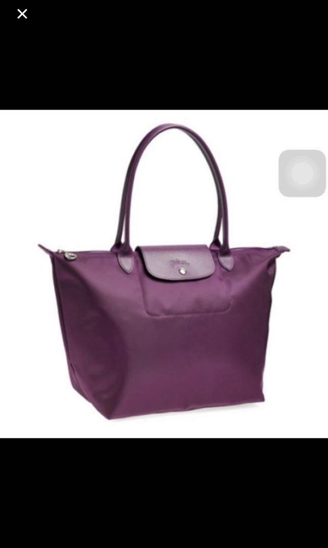 8123a024c453 💯 Authentic LONGCHAMP LE PLIAGE NÉO Purple Tote Bag