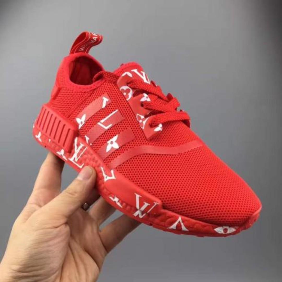pretty nice 58b19 4db67 Adidas NMD R1 x Louis Vuitton Red, Women's Fashion, Shoes ...