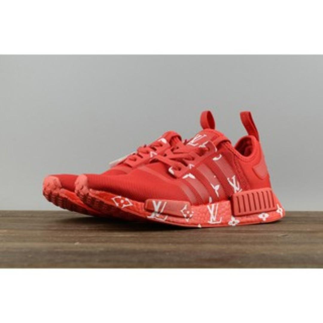 pretty nice c1c05 37daa Adidas NMD R1 x Louis Vuitton Red, Women's Fashion, Shoes ...