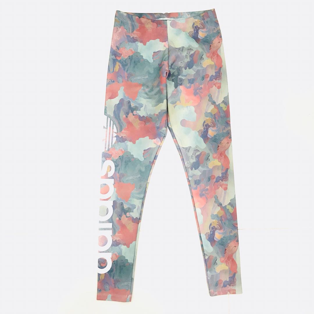 94e06a0a08010 Adidas Originals} Pastel Camo Leggings, Sports, Sports Apparel on ...