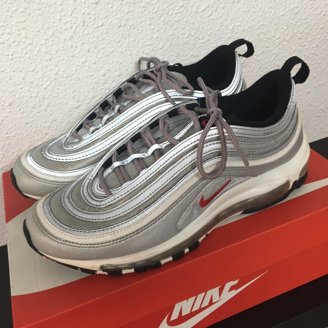 624c9e135a Air Max 97 Silver Bullet, Men's Fashion, Footwear, Sneakers on Carousell
