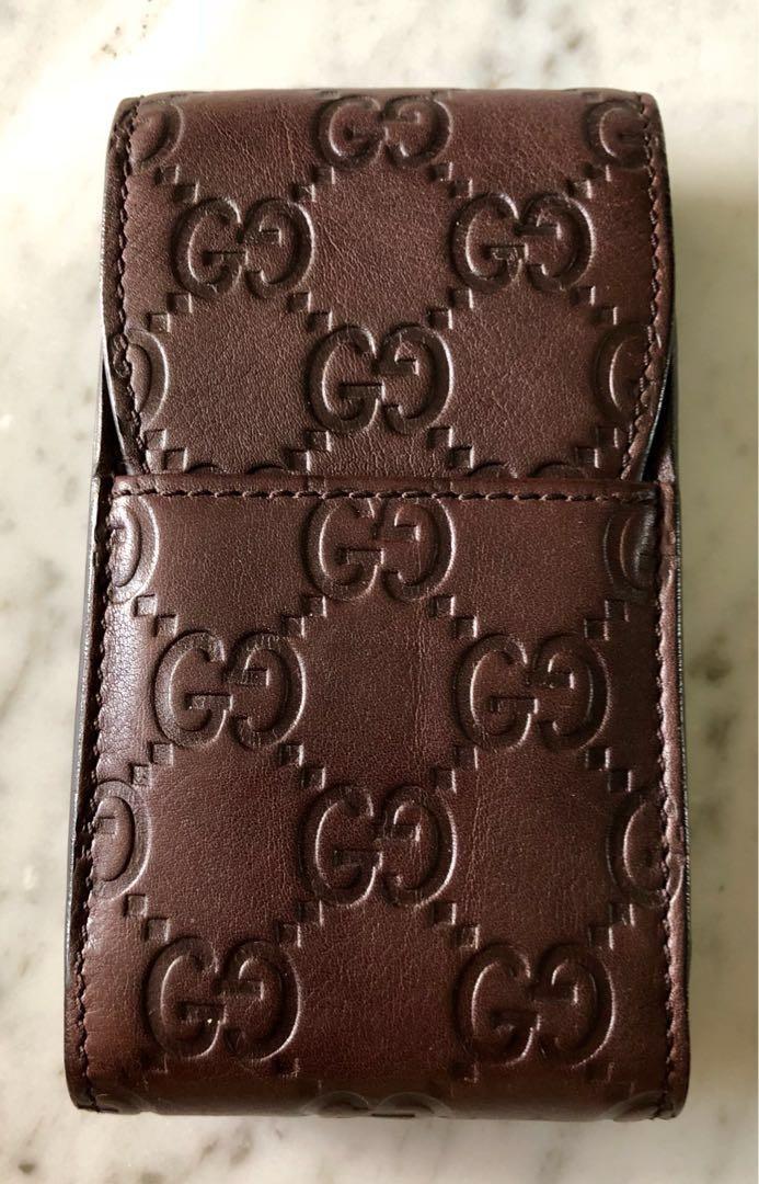 9a75e72a31a Authentic Gucci Leather Cigarette Case