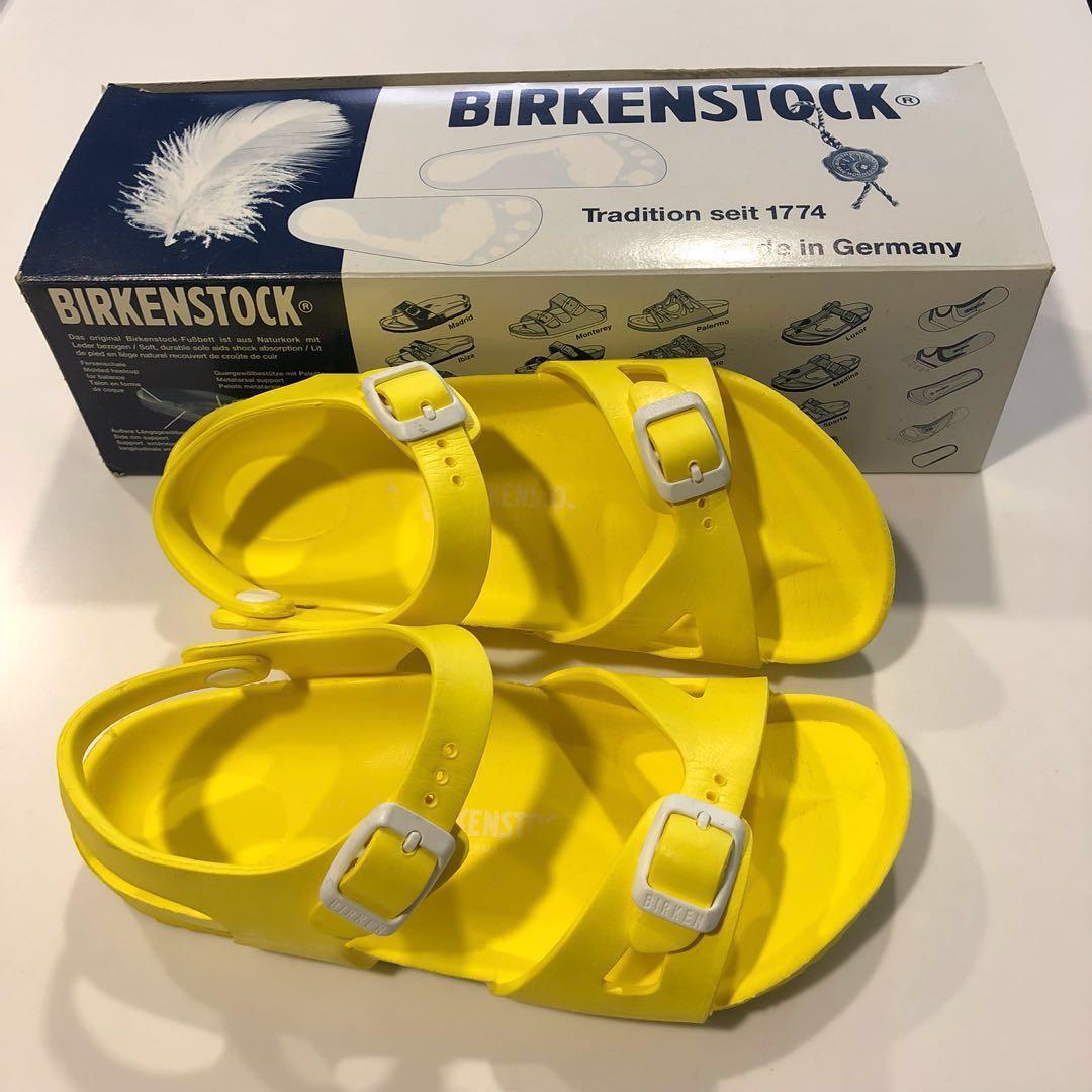 18bfdf46cb9 Birkenstock Kids Sandals - Rio Essential Kids EVA (Yellow   Navy ...