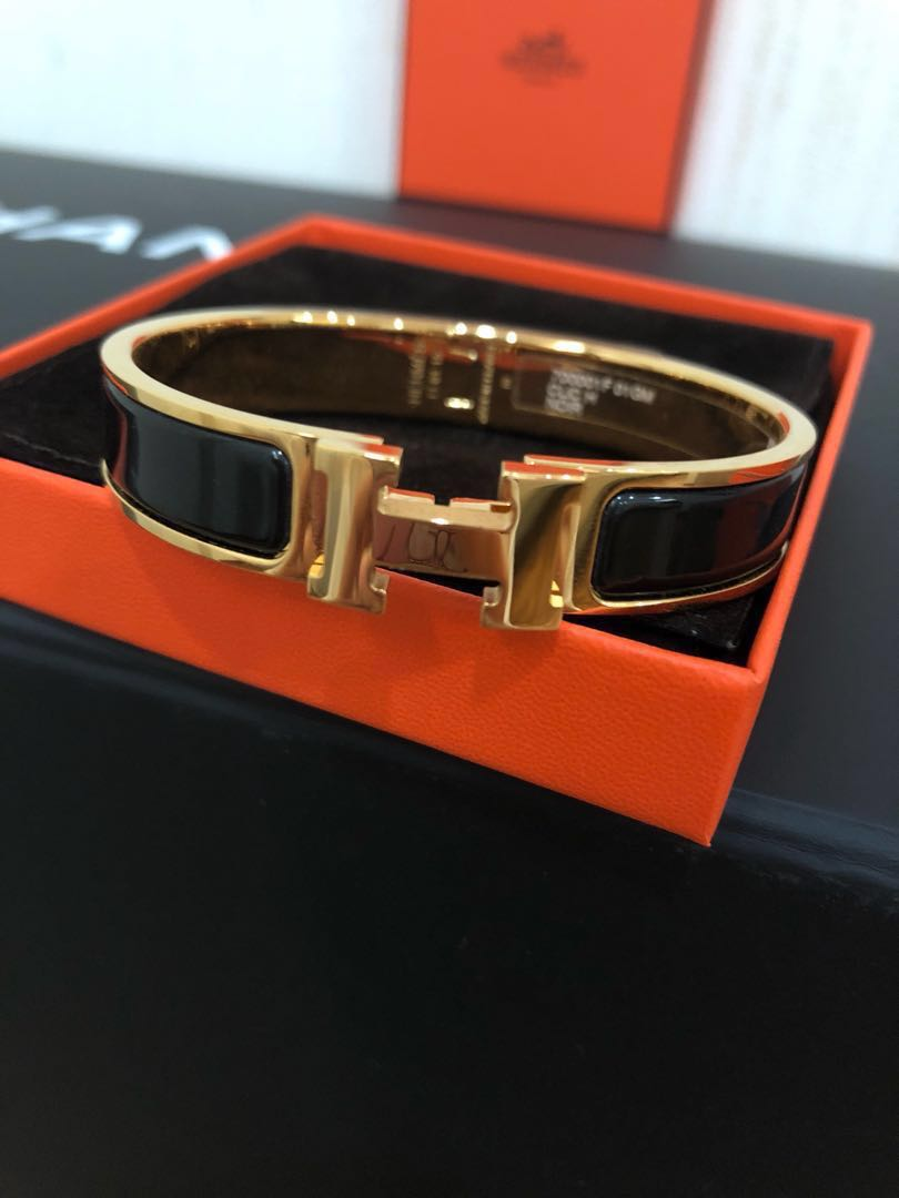 BNIB Hermes Clic H Bracelet BLACK GHW, Luxury, Accessories, Others on  Carousell 8c776004a24