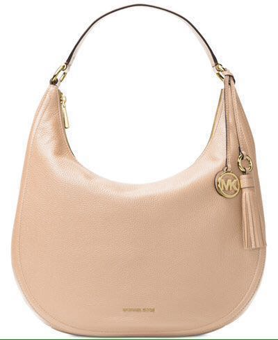 835ba8626b0e7 BRAND NEW Michael Kors Lydia Leather Shoulder Bag (Large) Oyster ...