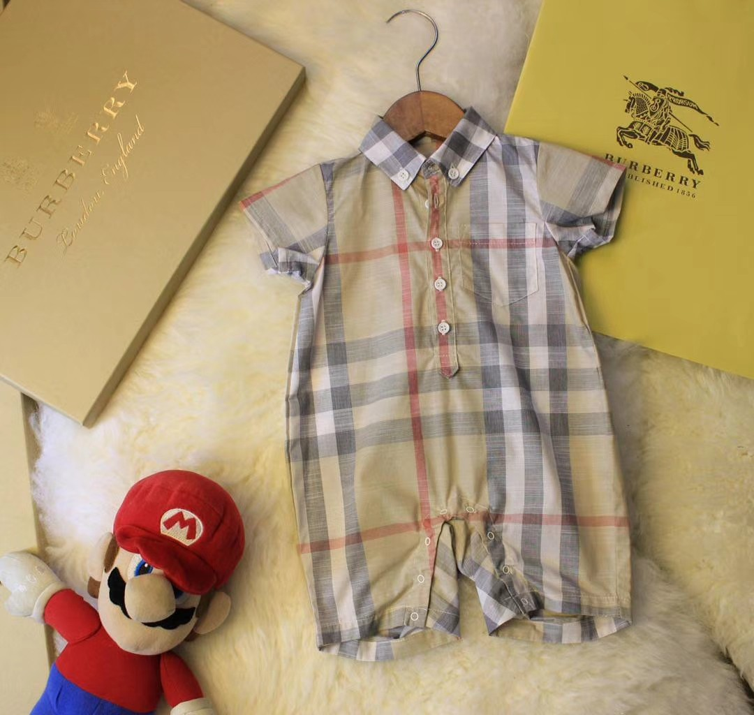 80cec5154176 Burberry romper P. O AUTHENTIC, Babies & Kids, Girls' Apparel, 1 to ...