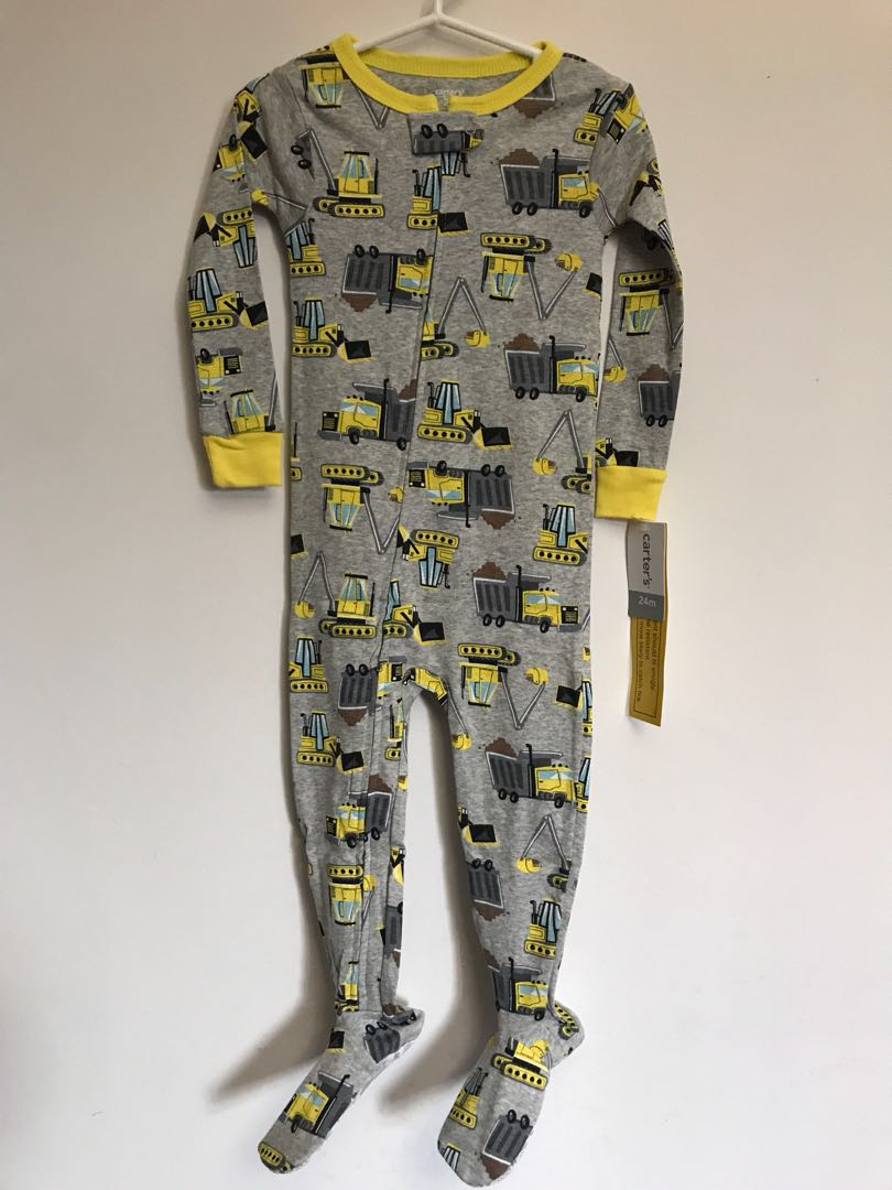 9f7c33a29 Carter s One Piece Cover All Pyjamas (Construction Vehicles)