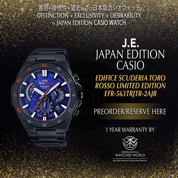 d21c561b968 CASIO JAPAN EDITION EDIFICE SCUDERIA TORO ROSSO LIMITED EDITION EFR ...