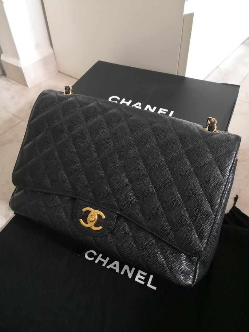 3f341e948aa7 Chanel Caviar Classic Maxi, Luxury, Bags & Wallets, Handbags on ...