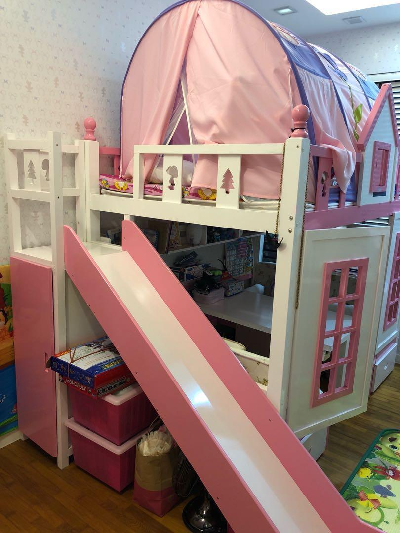 Picture of: Children Bunk Bed With Slide Furniture Beds Mattresses On Carousell