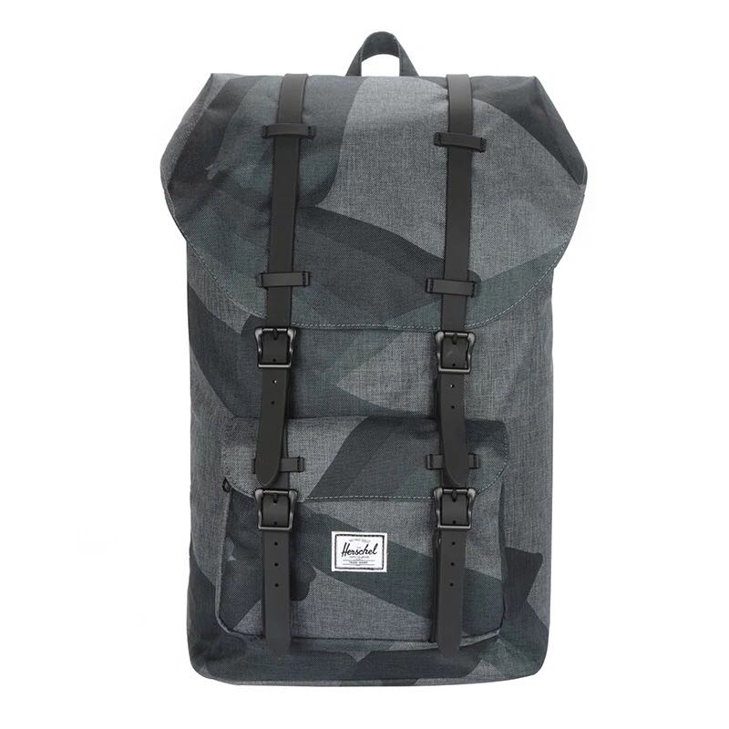 5e8eabc55df CLEARANCE  Herschel Little America Black Portal Crosshatch