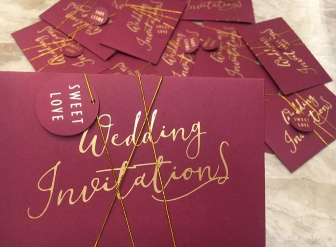 Customised wedding invitation cards, Design & Craft, Others on Carousell
