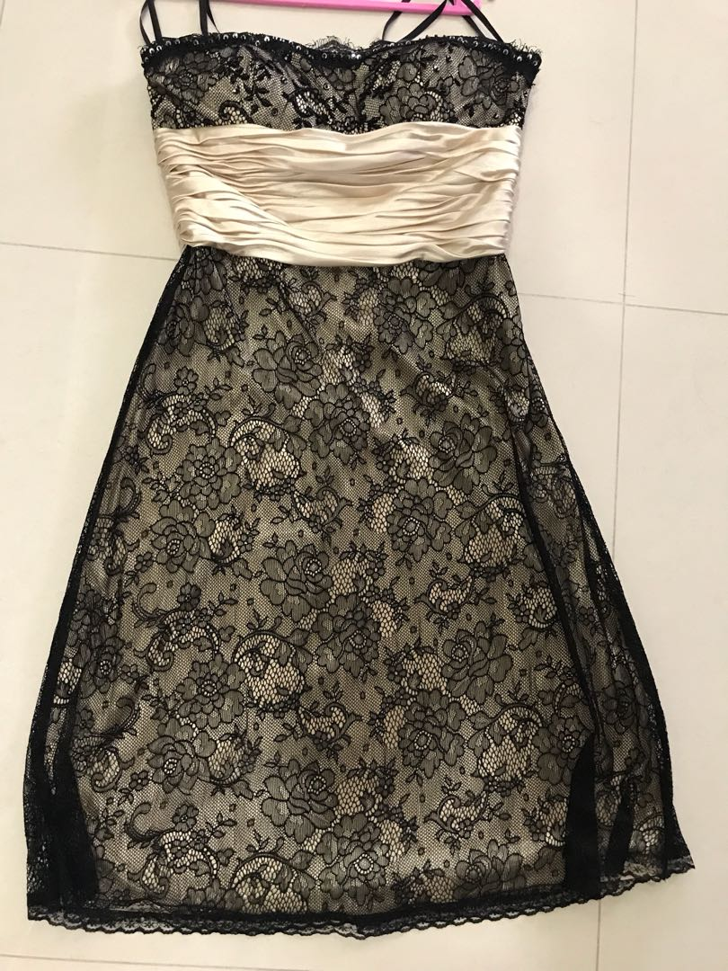 2943d6631b9 Daniel Yam Soft Black Lace Tube Dress