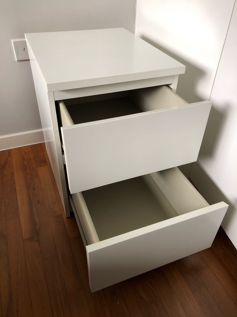 Ikea Bedside Table (MALM Series), Furniture, Shelves U0026 Drawers On Carousell