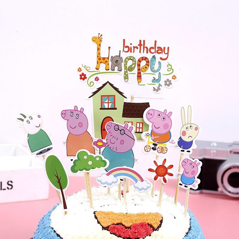 IN STOCK: Peppa Pig Cake Toppers, Food & Drinks, Baked Goods