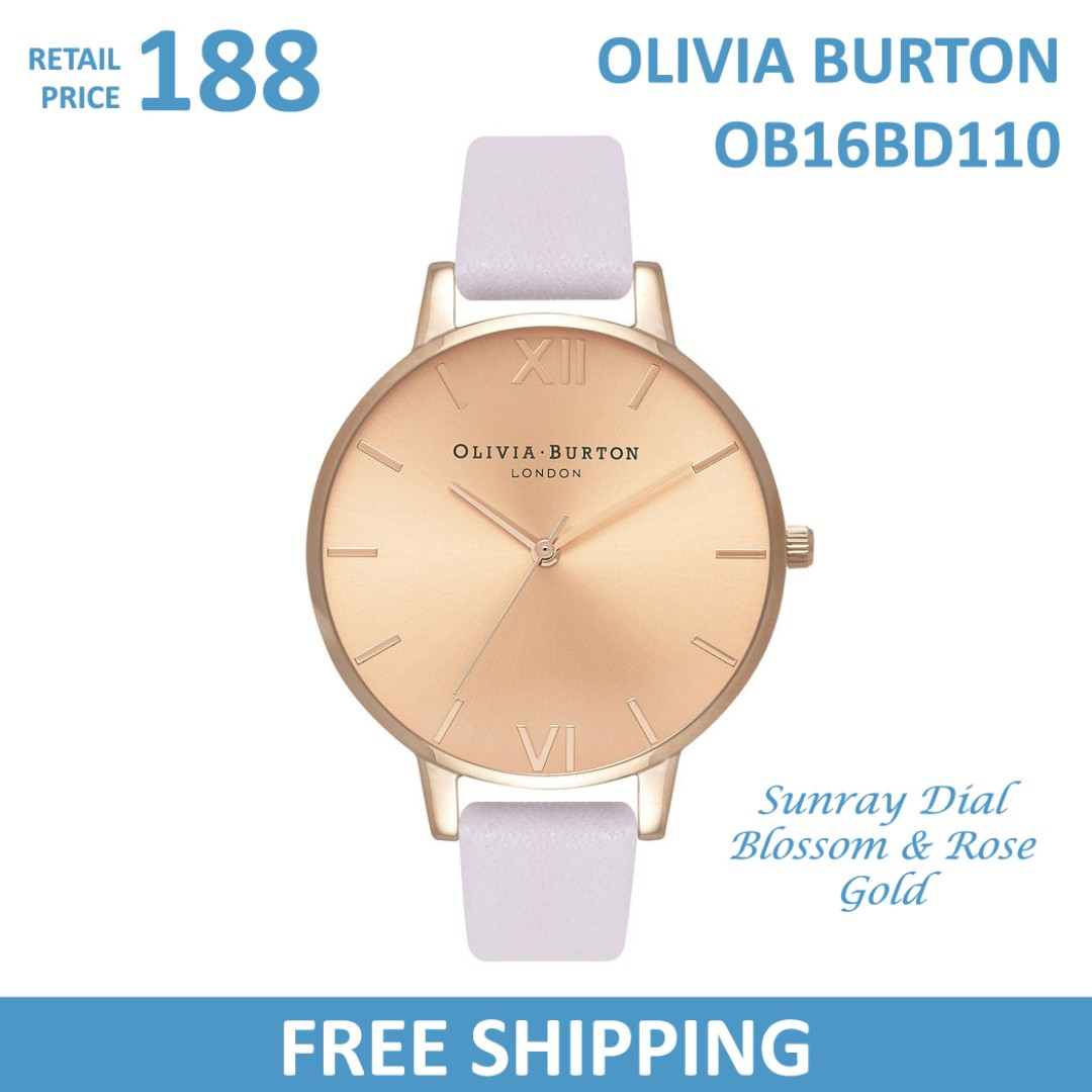 0349b81d2 Olivia Burton Ladies Watch Sunray Dial Blossom & Rose Gold OB16BD110,  Women's Fashion, Watches on Carousell