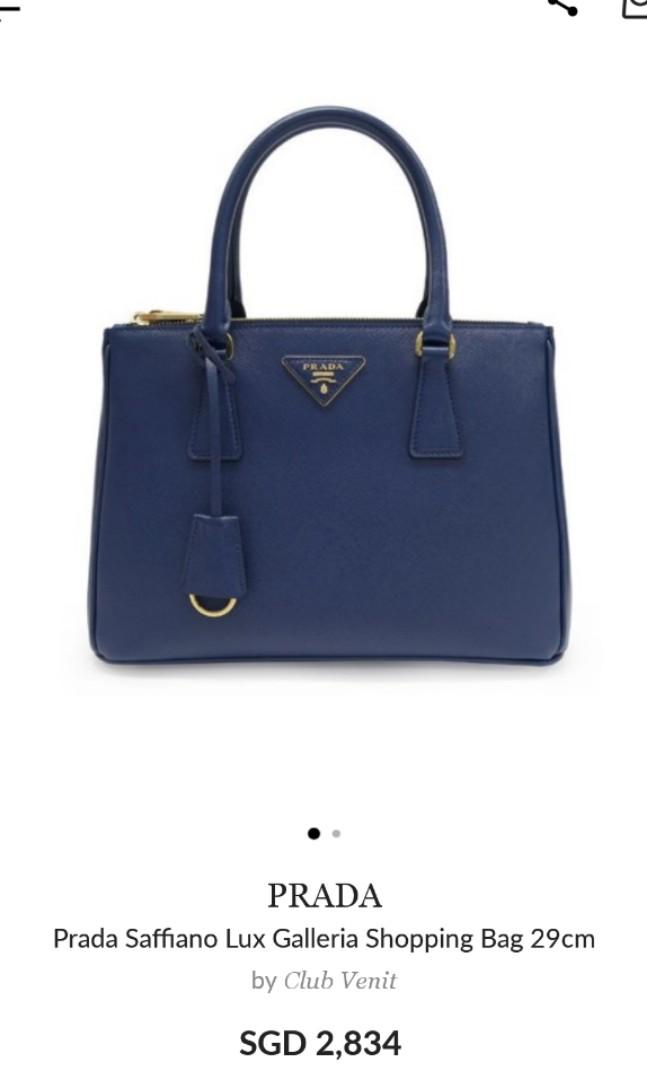 655c395bfd96 Prada Saffiano Lux Galleria, Luxury, Bags & Wallets, Handbags on ...