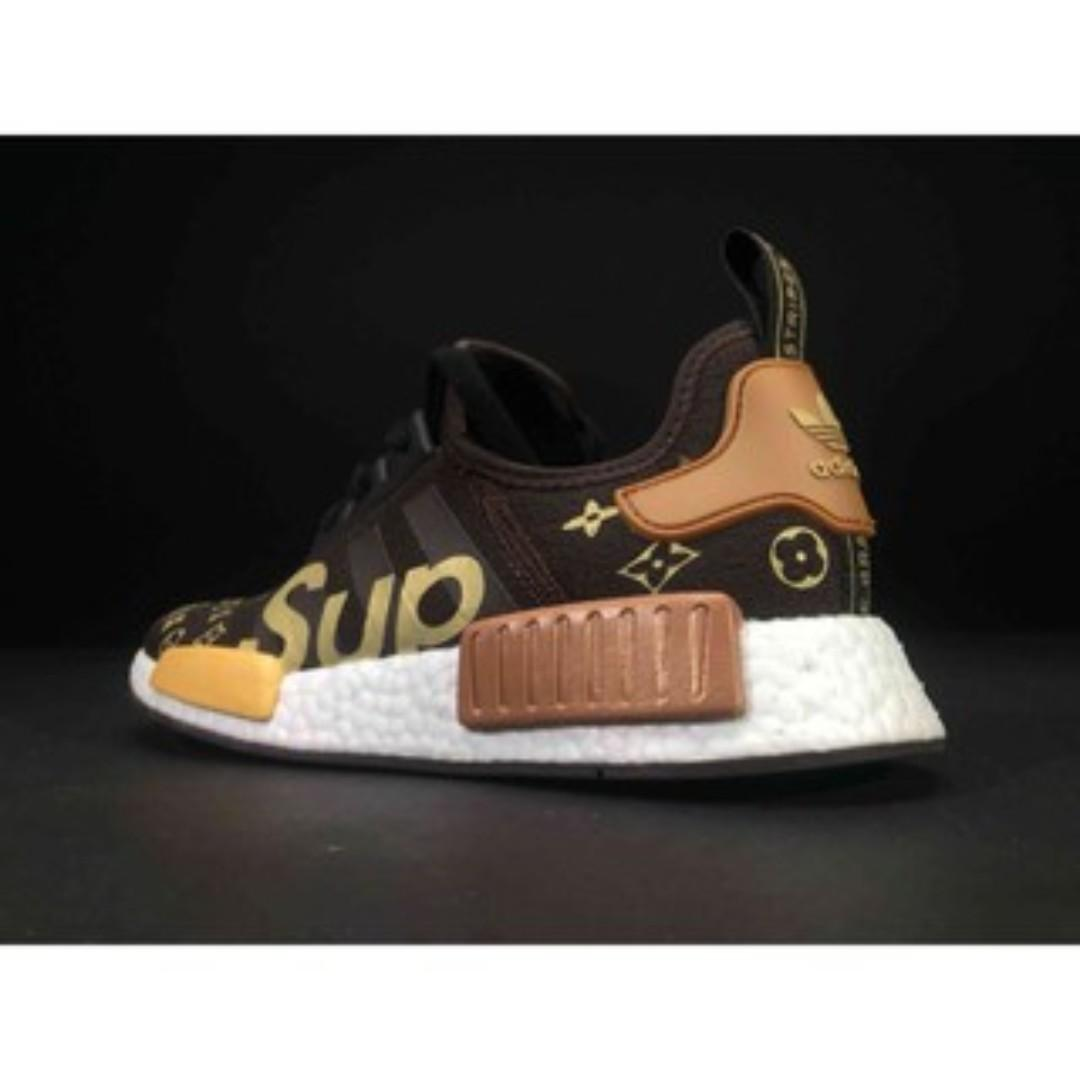 more photos 42fea 85d82 Supreme x Louis Vuitton x Adidas NMD R1, Women's Fashion ...