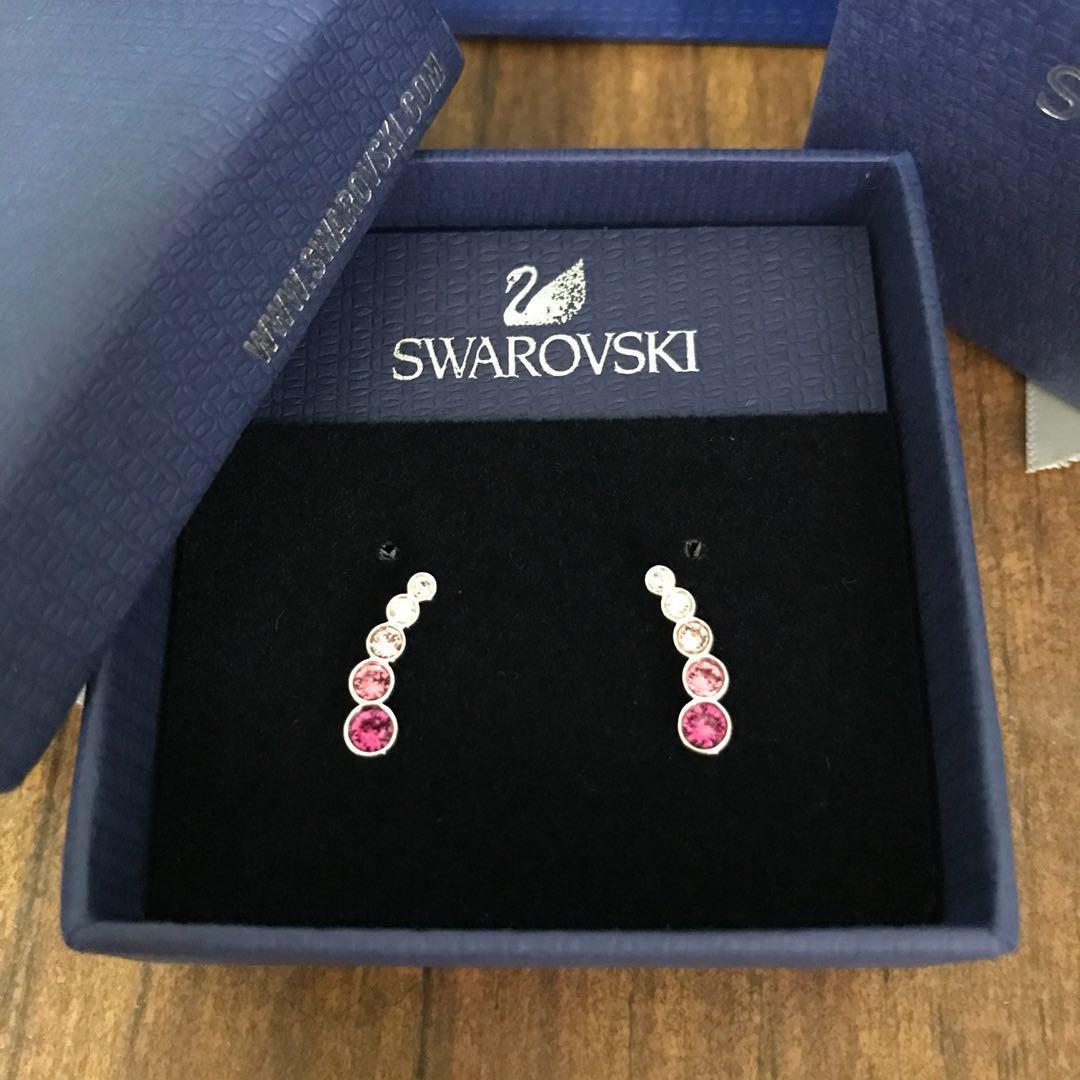 6c23ae5ff8175 Swarovski Crystal Harley Earlobe Pierced Earrings - Pink (5198391 ...