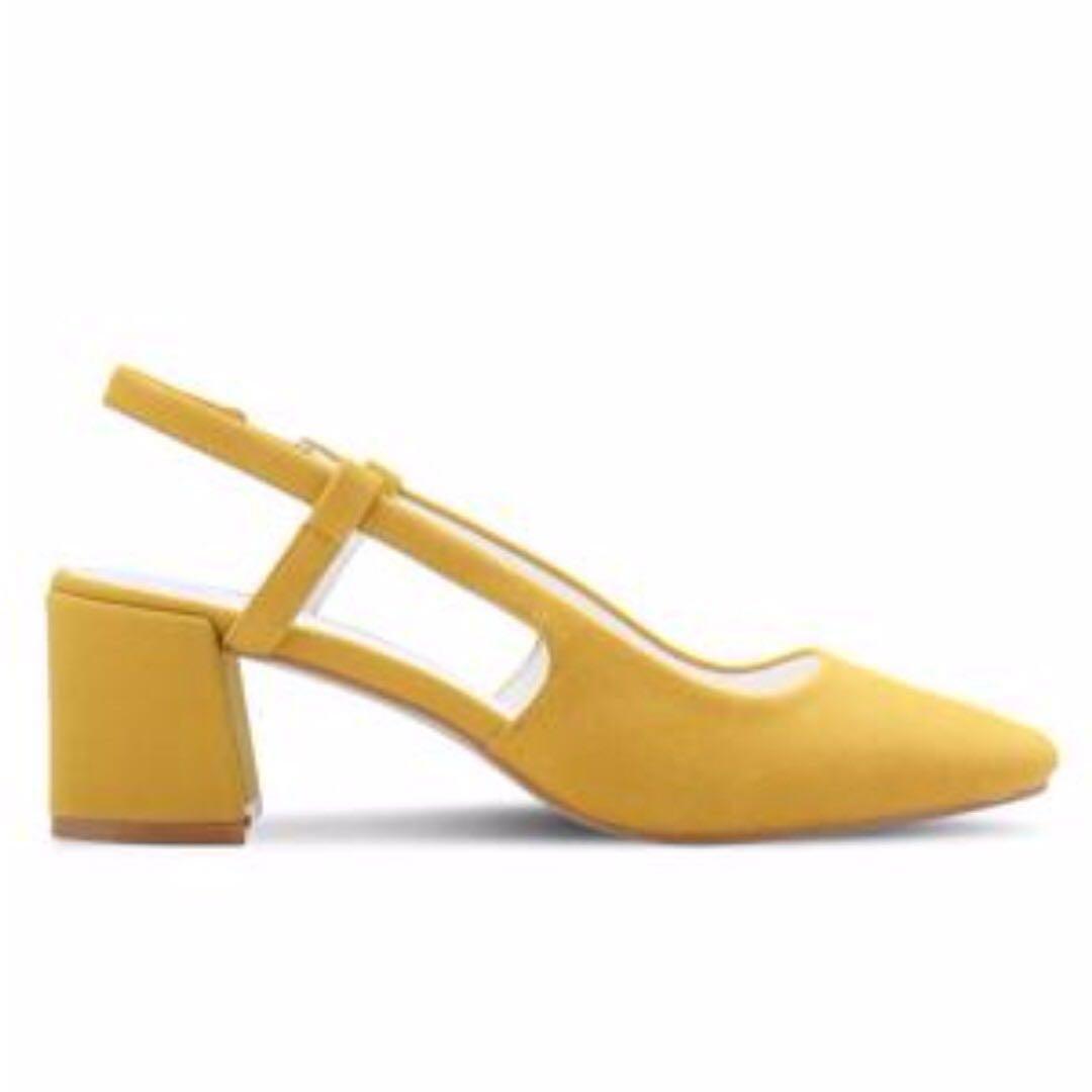 ae787a64926 Vincci yellow mustard suede slingback heels uk women fashion jpg 1080x1080 Mustard  yellow slingback heels for