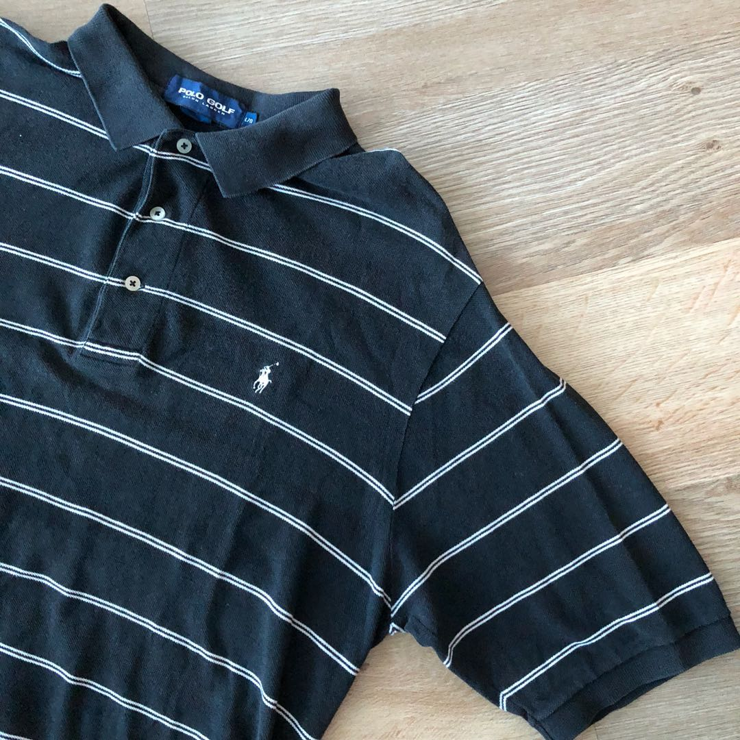 ddd8cdc34 Vintage Ralph Lauren Striped Polo Shirt Size L, Men's Fashion, Clothes, Tops  on Carousell
