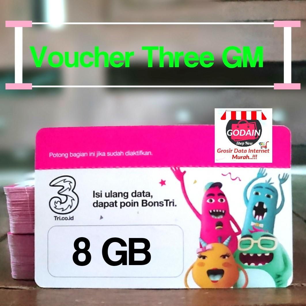Voucher Internet Tri 8gb Kuota 3 Murah Tiket Three Kartu Hadiah Di Carousell