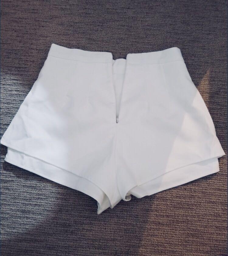 White double layer shorts