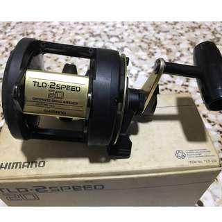 Shimano TLD 20-2 speed fishing reels