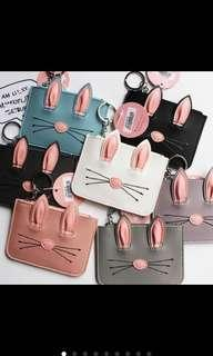 Animal cat ears coin purse pouch
