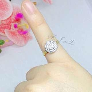 Diamond Antique Ring (big sized diamonds)