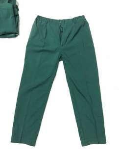 Green Regular Cut Pants
