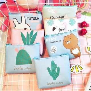 Kawaii printed animal PU coin pouch/ purse