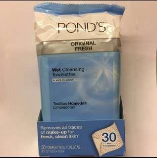 Pond's Original Fresh Wet Cleansing Towelettes With Vitamin E