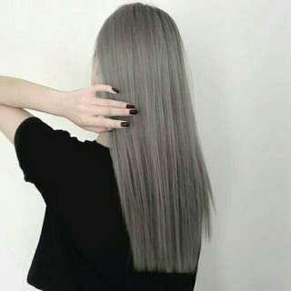 Granny hair dye (gray)