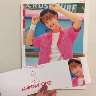 WTS To Be One Pink Ver - Bae Jinyoung Cover Card & Sleeve