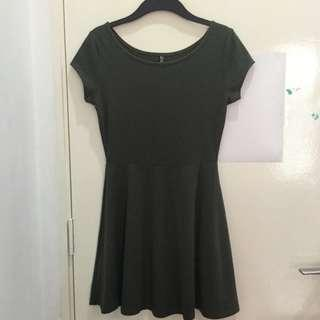 [FREE SHIPPING] Army Green Skater Dress
