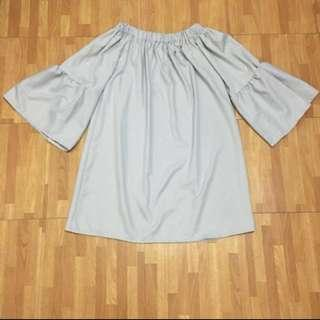 Repriced! Gray off shoulder