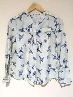 Blue Swallow Shirt