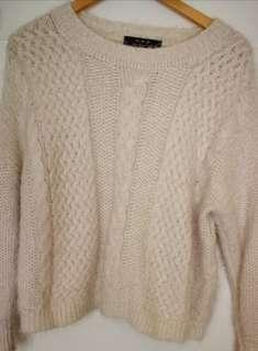 Knitted pullover winter