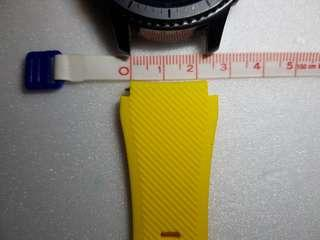 Interchangeable 22mm 20mm color silicone watch band