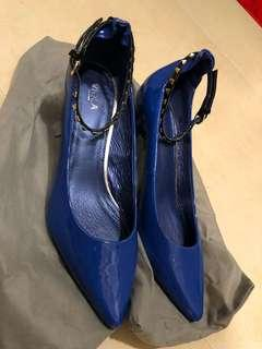 VIOLA 名牌 藍色 有帶高跟鞋 High Hill 38碼 原價968 全新冇盒