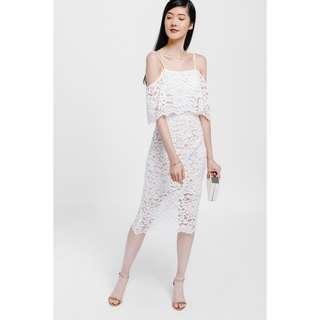 Love Bonito Brendia Off Shoulder Lace Midi Dress