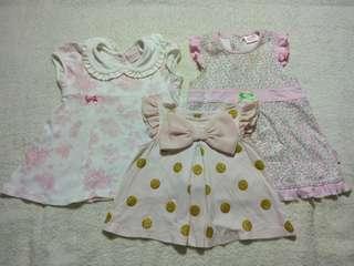 Preloved Catherine Malandrino,  Savannah Baby & Juniors Baby Girl Dress (Take All Set)
