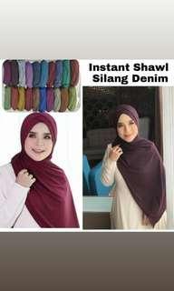 Instant Shawl Silang Denim