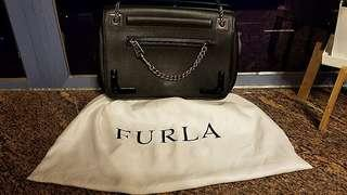 Black Friday Special $2999 90%New Furla black color crossbody with dust bag (Original price $6980)  2 way to wear