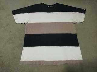 Vintage A BATHING APE brand stripe t-shirt