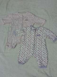 Preloved Juniors Sleepsuit and Sleepwear for Baby Girls (Take All Set)