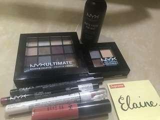 NYX All in Set (Palette, Eyeshadow, Lip cream, Lip Liner, Eyebrow & More)